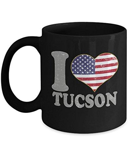 Tucson Arizona Coffee Mug - 11oz Black Ceramic Tea Cup Retro Country USA Flag Pride Novelty Holiday Christmas Gift Set of 1