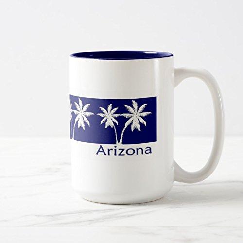 Zazzle Arizona Coffee Mug Navy Blue Two-Tone Mug 15 oz
