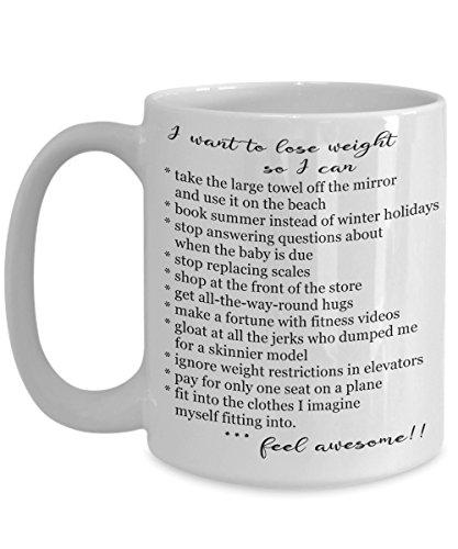Funny Dieting Coffee Mug Weight Loss Gift Motivational Mug Dieting Gift