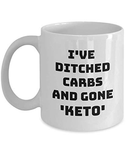 Weight Loss Mug - Coffee Cup Novelty Gift Idea - Great Birthday Anniversary Or Just Because Gift For Mom Dad Grandma Grandpa Coworker Boyfriend Girlfriend - Keta Instead Of Carbs