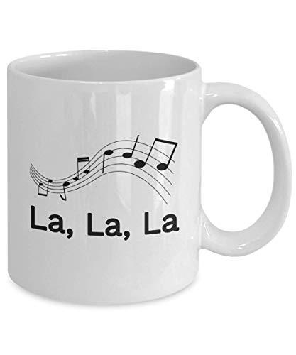 Funny Singing Coffee Mug Gift For Singer La La La Notes