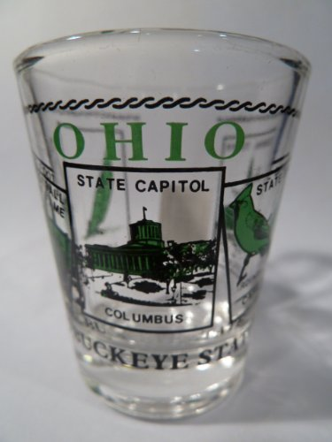 Ohio Scenery Green Shot Glass