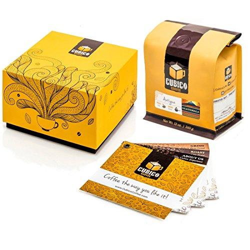 Guatemala Antigua Coffee - Ground Coffee - Freshly Roasted Coffee - Cubico Coffee - 12 Ounce Single Origen Antigua Guatemalan Coffee - Gift Box
