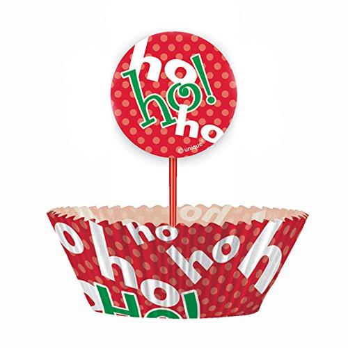 Ho Ho Ho Christmas Cupcake Kit for 24