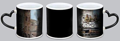 Best Cute Hearts Of Iron III Customized Design Black Magic Color Changing Cup Coffee Mug Creative Milk Mug Personalized Tea Cup