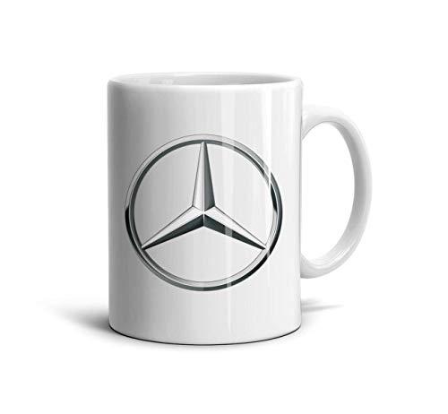 HAGHH White Coffee Mugs Inspirational Mercedes-Benz-Logo-Symbol-Emblem-Polished Ceramic Personalized Teacup 11 oz 330ml Cup