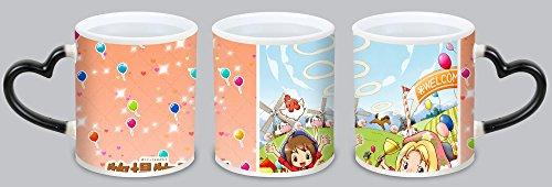 New Style Harvest Moon Animal Parade Customized Design Black Mug Coffee Mug Creative Milk Mug Personalized Tea Cup