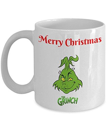 Funny Christmas Coffee Mug - Merry Christmas The Grinch - Funny Saying Novelty Mug - Funny 11 OZCeramic Coffee Mug - Unique Gift Items