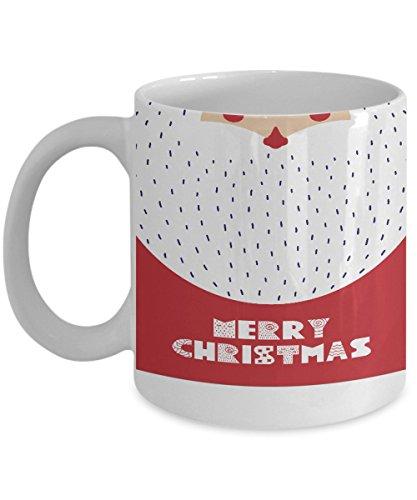Christmas Coffee Mug - Santa Beard Merry Christmas Coffee Mug - Novelty Christmas Lovers 1115oz Ceramic Coffee Gift Mug