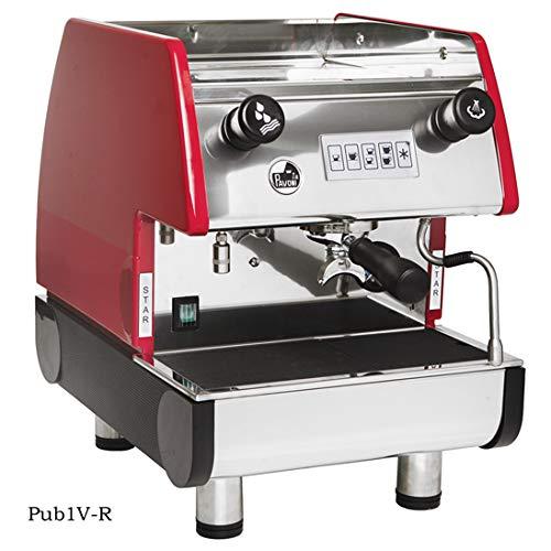 La Pavoni PUB 1V-R 1 Group Volumetric Espresso Machine Anti-vacuum Valve Copper Boiler Ruby Red