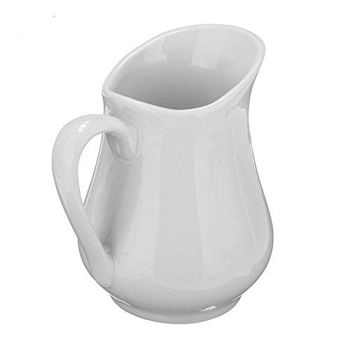 1 PCS Vintage Mini Ceramic Milk Jug Pot Arrangement Vase White Espresso Coffee creamer pourer Pitcher Barista Kitchen For Home Decoration Coffer Latte Tea Coffee Good Use Cooking Tools