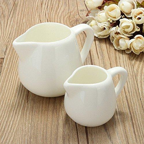 Bazaar 50ml150ml White Ceramic Milk Jug Kitchen Pouring Coffee Cream Sauce Cup with Handle