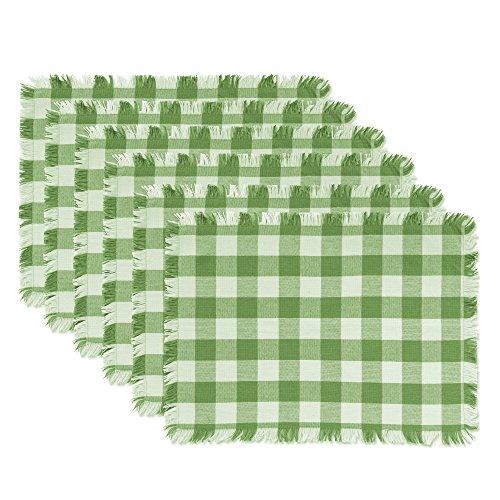 DII CAMZ10435 Placemats Checkered Green