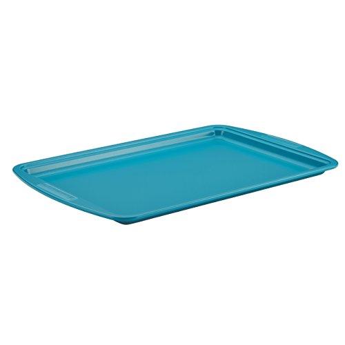 Silverstone Hybrid Ceramic Nonstick Bakeware, Steel Cookie Pan, 10-inch X 15-inch, Marine Blue