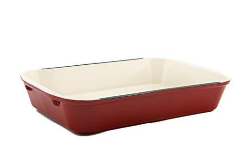 Useful. Uh-ci197 Cast Iron Enameled 14-inch Roasting Lasagna Pan