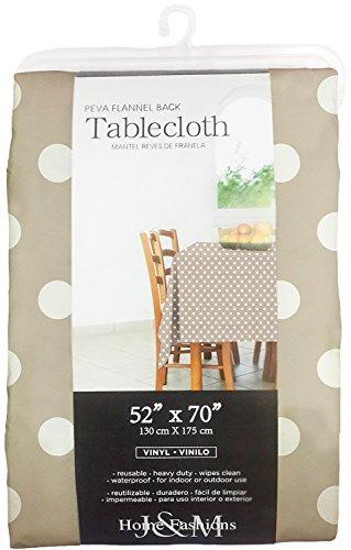 J M Home Fashions Polka Dot Round Vinyl Tablecloth 70