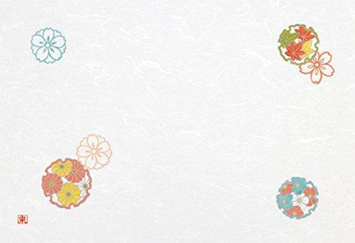Wakaizumi lacquerware Japanese paper table mat long 3 cun longitudinal Kumoryu Japanese paper laid mat auspicious crest series Yukiwabun cloud inflow 100 pieces B-26-63