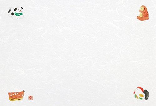 Wakaizumi lacquerware Japanese paper table mat long 3 cun longitudinal Kumoryu Japanese paper laid mat auspicious crest series zodiac 3 cloud inflow 100 pieces B-26-67
