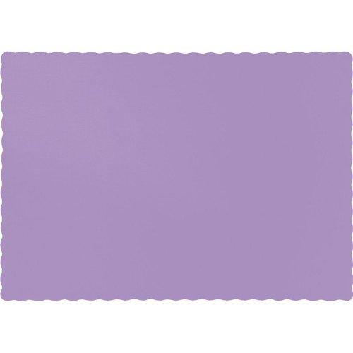Luscious Lavender Placemat 95 X 13375 Solid 12pks Case