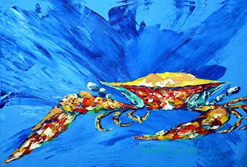 Carolines Treasures MW1163PLMT Big Spash Crab in Blue Fabric Placemat Large Multicolor