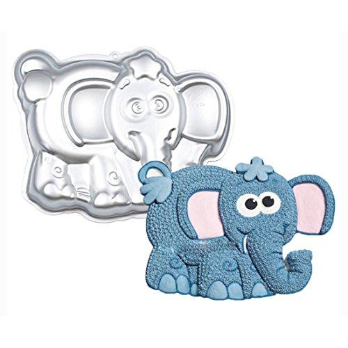 WJSYSHOP 10 Inch Elephant Shaped Aluminum 3D Cake Mold Baking Mould Tin Cake Pan - Elephant