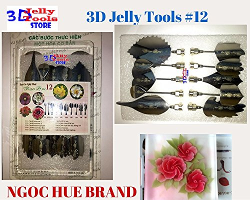 3d Gelatin Art Tools - Type 12 - 3d Jelly Cake Tools - 10 Pcsset