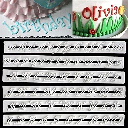 6 Pcs Letter Cutters A-Z Fondant Alphabet Molds Sugarcraft Cake Decorating Cutter Set Lowercase Letters
