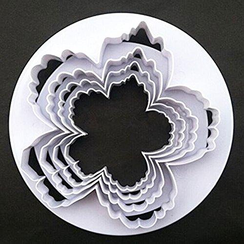 SPHTOEO Bigger Peony Petals Flower Cutter Set of 4pcs Gum Paste Flowers Cake Decorating Cutter Fondant Mold Sugar Tools