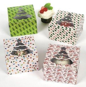 Fun Express 1 X Christmas Holiday Cupcake Boxes - 12 Pack