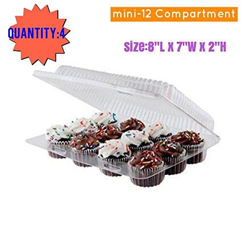 Mini-Cupcake boxes mini cupcakes Mini Cupcake Containers Cupcake Box 4 Mini 12 Compartment Cupcake Container