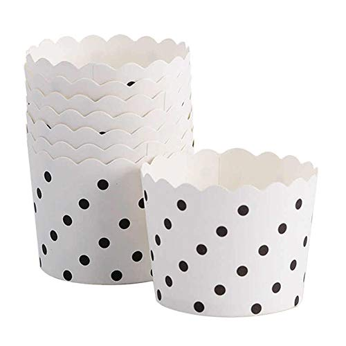 100pcs White Black Dots Muffin Cupcake Case Paper Cups Party Cups wedding birthday Party Decoration Disposable