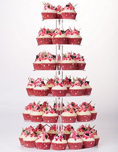 YestBuy 6 Tier Maypole Round Wedding Party Tree Tower Acrylic Cupcake Display Stand ¡