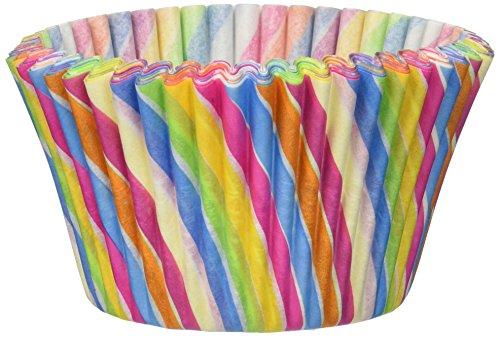 Cupcake Creations Jumbo Baking Cups Rainbow Swirl 24Pkg