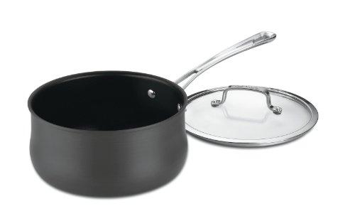 Cuisinart 64193-20 Contour Hard Anodized 3-Quart Saucepan with Cover