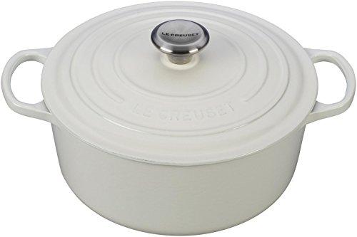 Le Creuset Signature Enameled Cast-Iron 5-12-Quart Round French Dutch Oven White