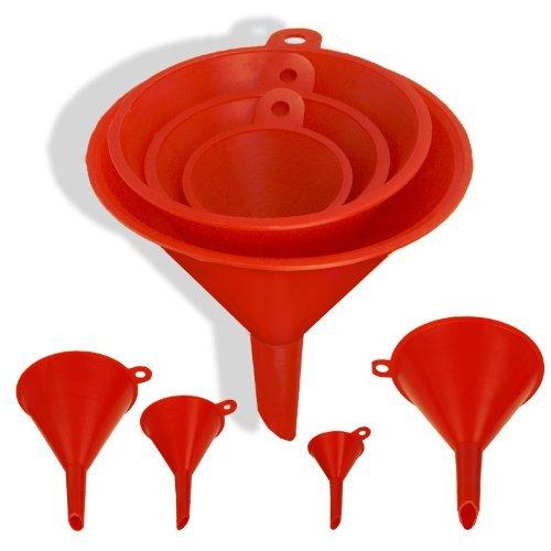 1 X 4-size Plastic Funnel Set For Liquids Dry Goods