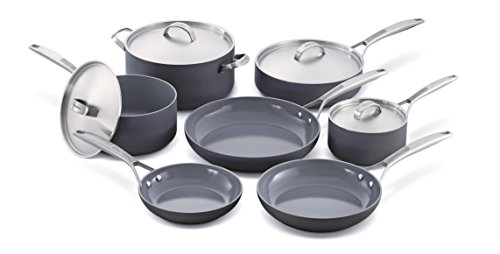 Greenpan Paris 11 Piece Hard Anodized Non-stick Ceramic Cookware Set