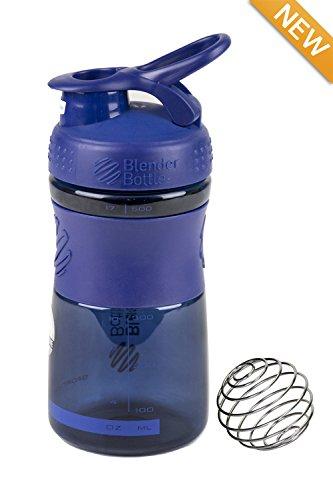 Genuine 20-oz Odor-resistant BPA-Free Shaker Sport Mixer Bottle With Blending Ball Inside and Leak Proof Secure Top NAVY