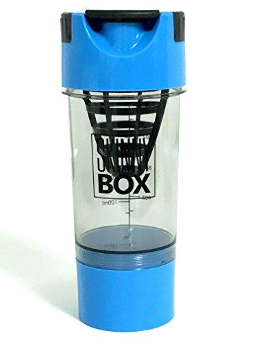 PROTEIN DRINK SHAKER MIXER BOTTLE 16oz 500ml Protein Mixer Blender with Twist Go Storage for Workout Powder Supplements Pre Workout BCAA Creatine Whey