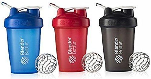 BlenderBottle 20oz Classic Loop Top Shaker Bottle 3-Pack Full Color - Assorted