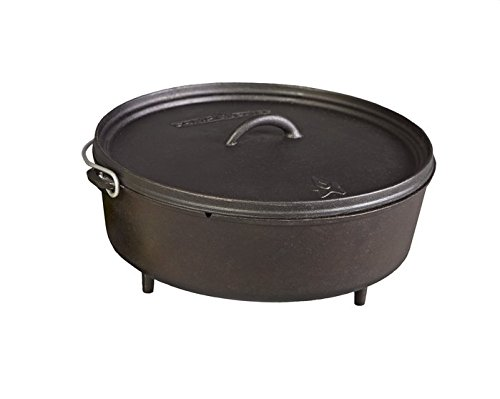 Camp Chef SDO14 Pre-Seasoned Cast Iron 14 Dutch Oven with Lid Black