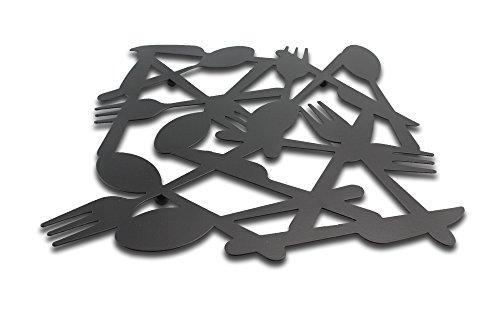 Finex Modern Meal Time Premium Large Black Pot Holder potholders