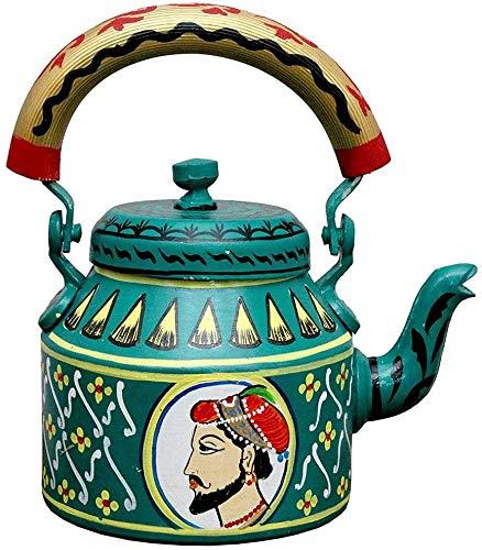 PRASTARA Beautiful Decorative Fancy and Designer Hand-Painted Multicolor Tea Kettle Pot