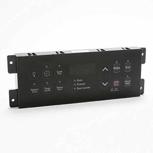 318296802 Range Oven Control Board and Overlay Black Genuine Original Equipment Manufacturer OEM Part Black