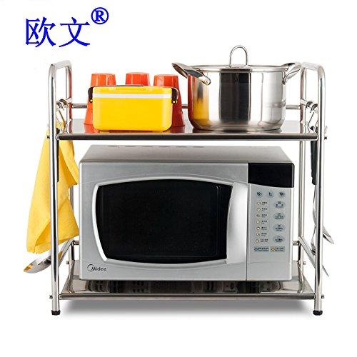 BGmdjcf Kitchen Racks Oven Rack Admit 3 Layer Stainless Steel Microwave Oven Microwave Oven Shelf Rack 5301 Single Layer