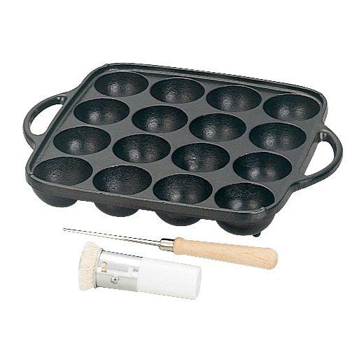 Cast Iron 16 Holes Takoyaki Pan