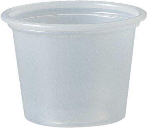 DART 100PC 1 oz Plastic Souffle Portion Cup Translucent 250Pack