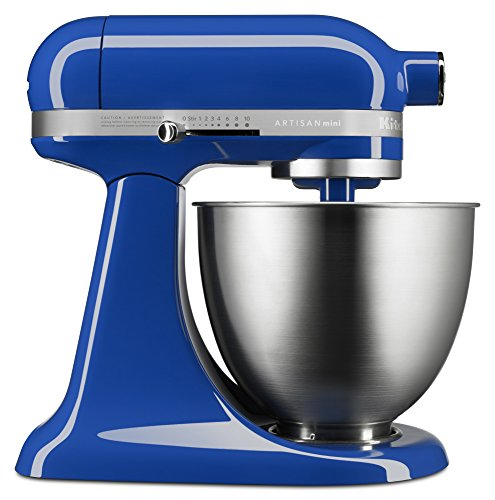 KitchenAid KSM3311XTB Artisan Mini Series Tilt-Head Stand Mixer Twilight Blue 35 quart
