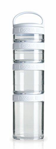 Blender Bottle 4-Piece GoStak Twist n Lock Storage Jars Starter Pack White