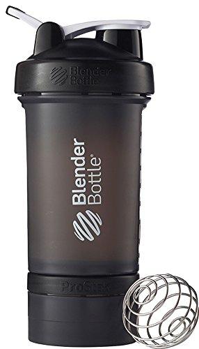 BlenderBottle ProStak System with 22-Ounce Bottle and Twist n Lock Storage BlackBlack